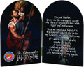 Marines St. Christopher I Arched Diptych