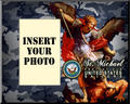 Navy St. Michael Photo Frame