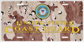 Coast Guard License Plate