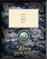 Navy Picture Frame (Insert Your Photo) Vertical