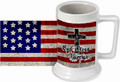 God Bless America Beer Stein