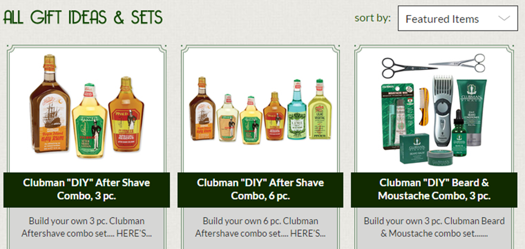 Clubman Online Gift Sets and Gift Ideas