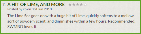 Clubman Lime Sec Eau de Cologne Review