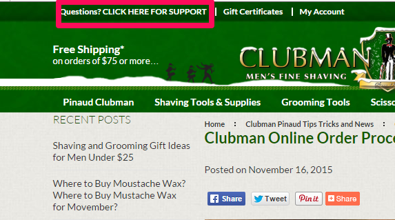 Clubman Online Shaving and Grooming Supplies