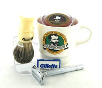 Col. Conk Shave Set with Double Edge Safety Razor