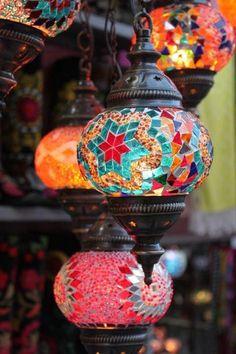 Turskish Mosaic Lamp for Bars and Restaurants