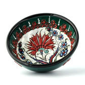 Nimet Traditional Turkish Porcelain Bowl 12cm by Paykoc N20012 Green
