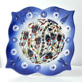 Nimet Lead-Free Deluxe Turkish Porcelain Plate 20cm by Paykoc N82015 Blue