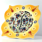 Nimet Lead-Free Deluxe Turkish Porcelain Plate 25cm by Paykoc N82025 Yellow