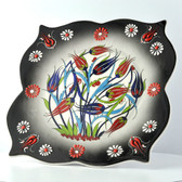 Nimet Lead-Free Deluxe Turkish Porcelain Plate 25cm by Paykoc N82025 Black