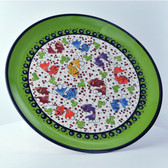 Nimet Fish Plate - 30cm Light Green - Front