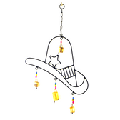 Iron Cowboy Hat Wind Chime