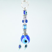 Evil Eye Keychain - Blue Owl