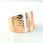 Hammered Copper Cuff - Front