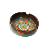 Nimet Deluxe Ashtray - Brown 10cm - Front