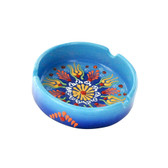 Nimet Deluxe Ashtray - Light Blue 10cm - Front