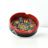 Nimet Deluxe Ashtray - Red 10cm - Front