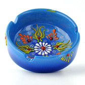 Nimet Deluxe Ashtray - Light Blue 8cm - Front