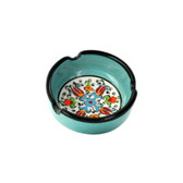 Nimet Classical Ashtray - Aqua 8cm - Front