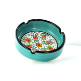 Nimet Classical Ashtray - Aqua 10cm - Front