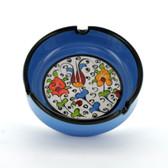 Nimet Classical Ashtray - Light Blue 10cm - Front