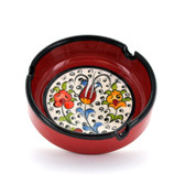 Nimet Classical Ashtray - Red 10cm - Front
