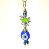 Evil Eye Keychain - Green Horse