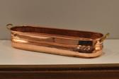Side profile of copper planter