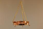 Hanging Copper Pot Rack - Side