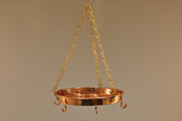 Hanging Copper Pot Rack - Side