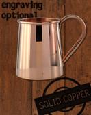 16oz Solid Copper Standard Tankard