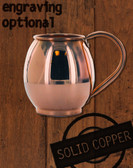 16oz Solid Copper Moscow Mule Barrel Mug by Paykoc MM11020