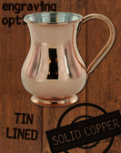 13.5 oz Solid Copper Tin Lined Moscow Mule Kettle Mug