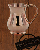 13.5 oz Hammered, Solid Copper Moscow Mule Kettle Mug By Paykoc