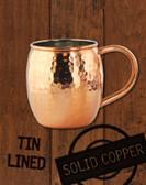 18oz Hammered Copper Barrel Moscow Mule Mug by Paykoc MM3456