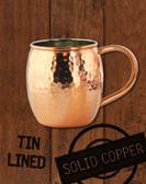 18oz Hammered Copper Barrel Moscow Mule Mug by Paykoc MM3456