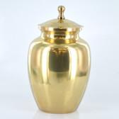 """7"""" Urn W/ Antique Brass Finish"""