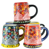 Handmade Nimet Porcelain Beer Steins (Assorted Colors/Patterns)