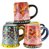 Handmade Nimet Porcelain Beer Steins (Assorted Colors/Patterns)