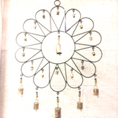 Flower Wind Chime with Bells & Beads