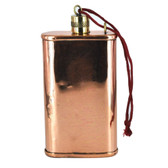 """5"""" Solid Copper Flask with Brass Top (8oz)"""