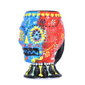 Large Hand Painted Sugar Skull Stein 24oz #01