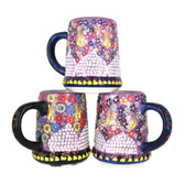 Handmade Nimet Porcelain Beer Steins (Purple/Assorted Patterns)