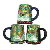 Handmade Nimet Porcelain Beer Steins (Light Green/Assorted Patterns)