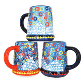 Handmade Nimet Porcelain Beer Steins (Light Blue/Assorted Patterns)