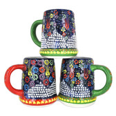 Handmade Nimet Porcelain Beer Steins (Blue/Assorted Patterns)