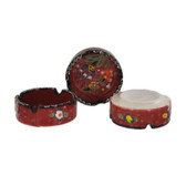 Traditional Turkish Nimet Porcelain Ashtray 8cm Red