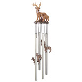 """Deer With Fawn Round Top Chime, 23""""L GS41636"""