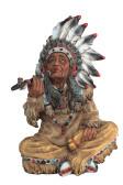 "Native American Smoking Pipe 10"" Height"