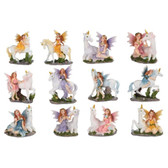 """3"""" Miniature Faries and Unicorns for Fairy Garden Set of 12"""
